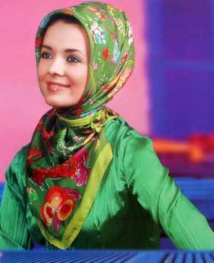 نحوه بستن روسری های مجری صدا سیما مدل بستن شال,مدل بستن شال با حجاب,مدل بستن شال جدید.